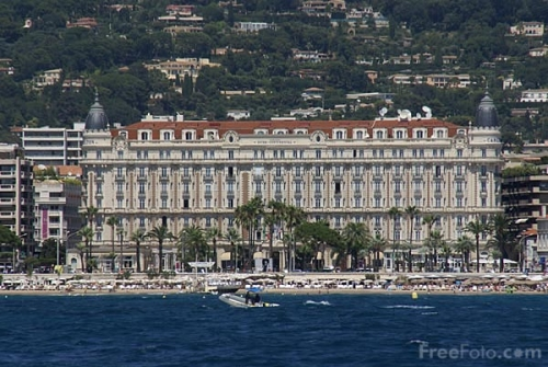 Cannes Carlton from Offshore